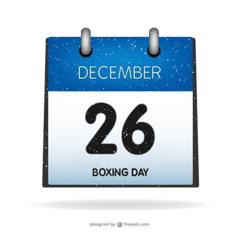 Boxing Calendar Boxing Day On Calendar Vector Free