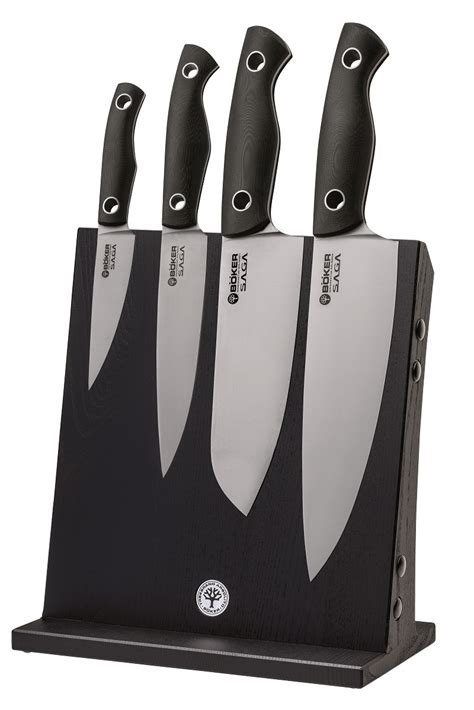 premium kitchen knives boker tree brand saga premium kitchen cutlery set tang satin g10 knives