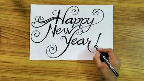 new year in writing how to write happy new year 2018 in style calligraphy