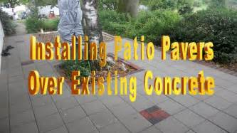 Large Outdoor Patio Tiles Installing Patio Pavers Over Existing Concrete Youtube