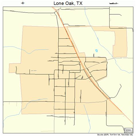 oak texas map lone oak texas map 4843636
