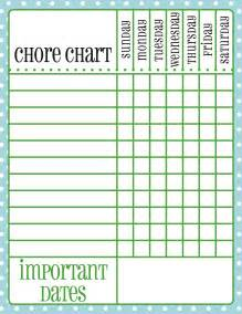 free printable chore chart for kids palm beach print shop
