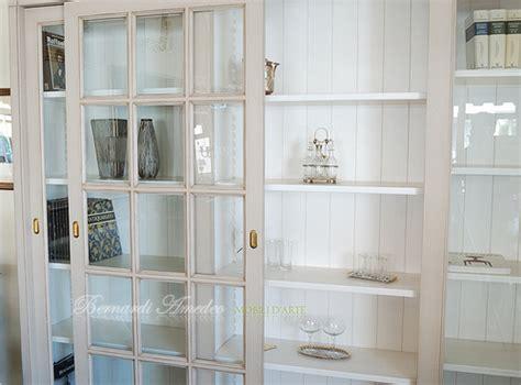 libreria billy rossa lb63 l2 libreria con 3 ante scorrevoli a vetro laccatur