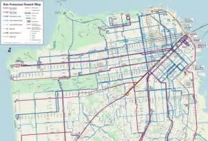 san francisco muni map trip planner san francisco s rider friendly transit map shows