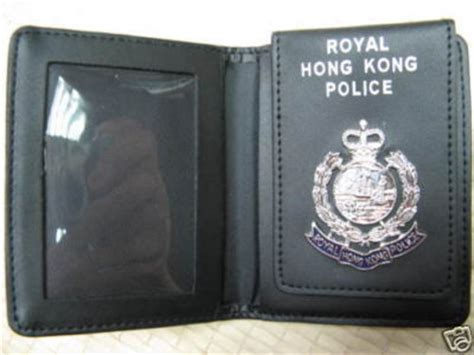 Search Warrant Hong Kong Genuine Obsolete Coloinal Royal Hong Kong Warrant Card Holder
