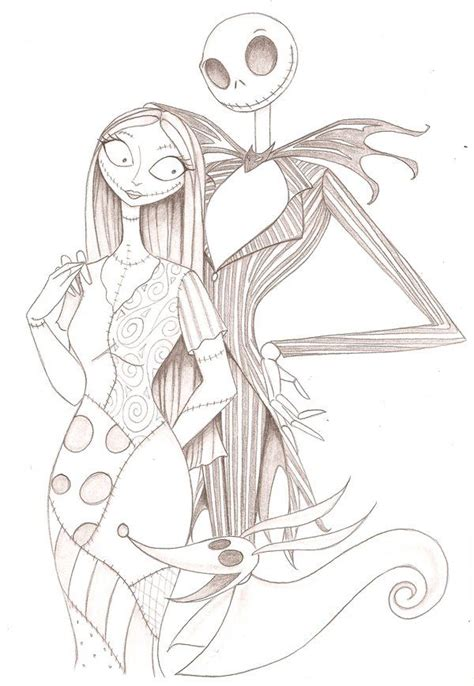 zero from nightmare before christmas coloring pages jack and sally dishes picmia