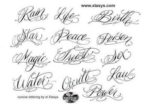 tattoo fonts script calligraphy cursive letters for tattoos about lettering tribal