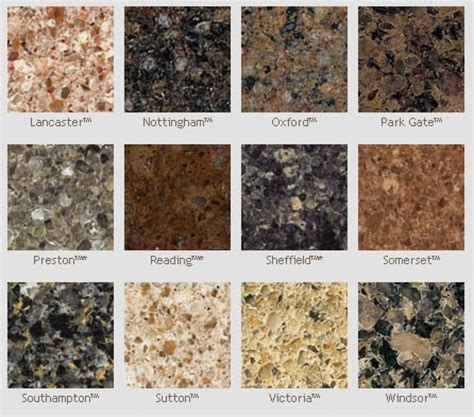 Granite Types For Countertops by Quartz Countertop Colors Engineered Quartz Countertops