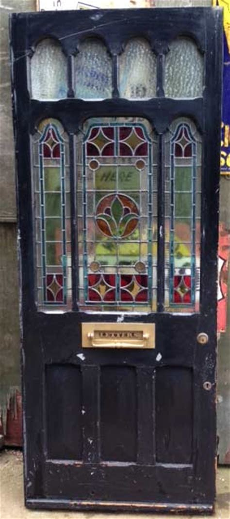 Stained Glass Front Doors For Sale Restoring An Door The Period House Guru