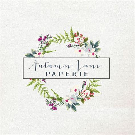 logo fiori pre made logo premade logo wreath logo floral logo