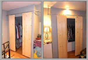 Sliding Barn Doors For Closet by Closets With Sliding Barn Style Doors
