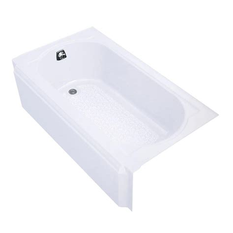 kohler memoirs bathtub kohler memoirs 5 ft left drain rectangular alcove cast