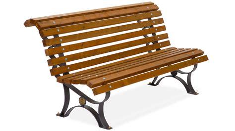 in the panchina panchina per arredo urbano in metallo con listoni in legno