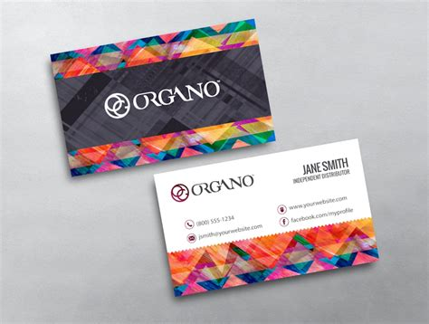 Organo Gold Business Card Template by Organo Gold Template 09