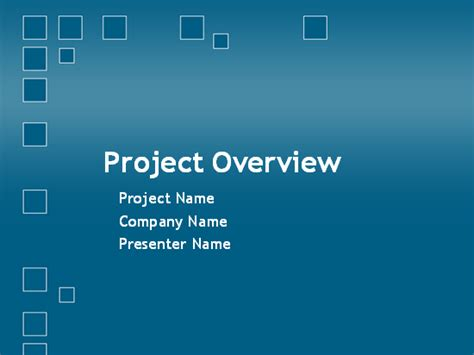 Project Planning Overview Presentation Template For Powerpoint 2003 Or Newer Inside Project Project Overview Template Powerpoint