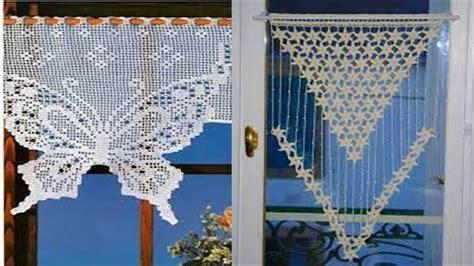 como tejer cortinas en todo modelo  tejidos  crochet  youtube