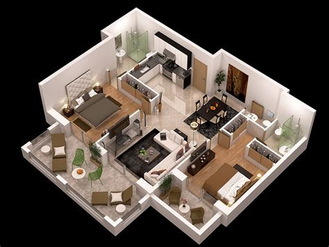 how to plan interior design of a house detailed floor plan 3d cgtrader