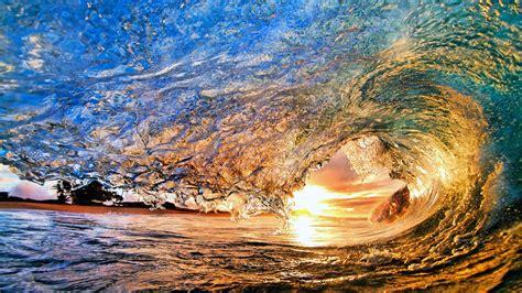 fondos de pantalla bajo el sol de las olas del mar rodado