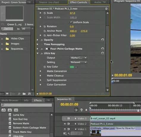 adobe premiere pro green screen les meilleurs logiciels chroma key