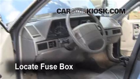Interior Fuse Box Location 1990 1997 Oldsmobile Cutlass