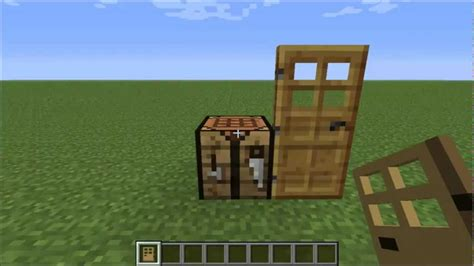 How To Make A Door In Minecraft by How To Make A Wooden Door In Minecraft