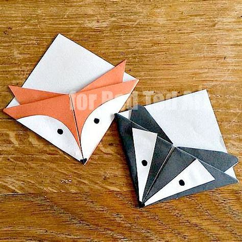 Origami Corner Bookmark - 25 best ideas about paper bookmarks on diy