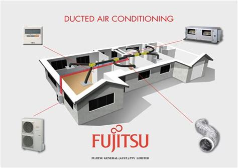 controlled comfort heating and cooling ducted air con range fujitsu air conditioning