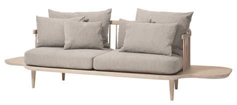 sofa 2 places fly straight sofa 2 places l 240 cm bleached wood