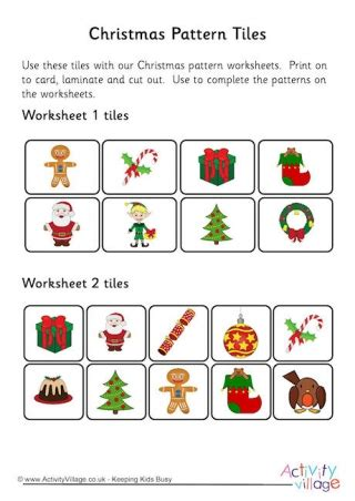 christmas pattern maths more christmas worksheets