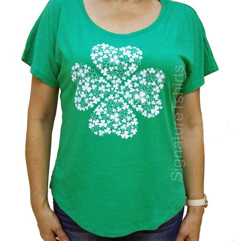 st patricks day shirt womens t shirt shamrock vintage flowy