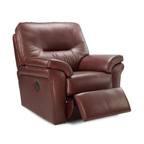 automatic recliner g plan washington leather electric recliner at smiths the rink