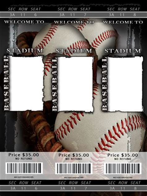 free printable sports tickets blank baseball ticket template staging your home before