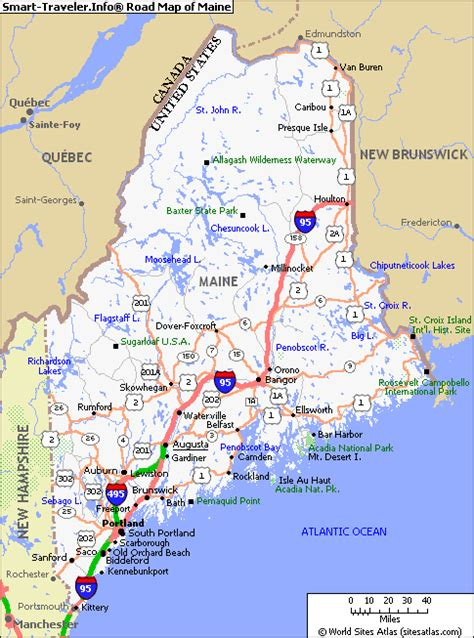 city map of maine images of state of maine