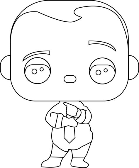 pop vinyl printable list funko pop boss baby boss baby diaper and tie coloring page