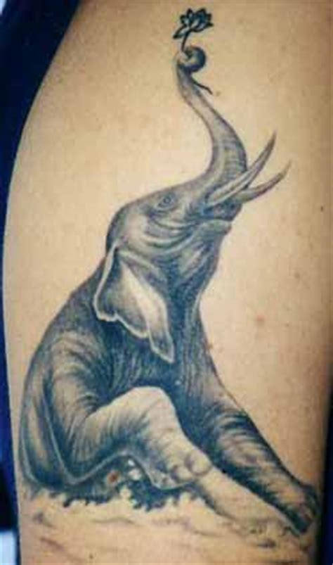 elephant tattoo standing elephant tattoo images designs