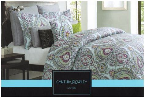 Tj Maxx Bedding Sets Cynthia Rowley 3pc King Duvet Cover Set Moroccan Medallion Aqua Grey Magenta Yellow Cynthia