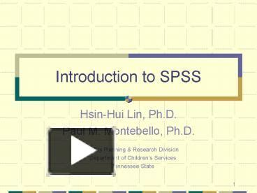 tutorial spss ppt ppt introduction to spss powerpoint presentation free