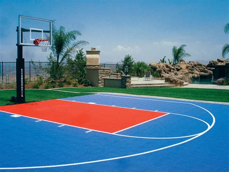 outdoor basketball court vinyl tiles basketball courts built in your backyard free