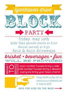 Invitation Letter Neighborhood 1000 Ideas About Block Invites On Neighborhood Invitations And