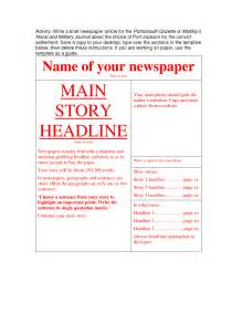 newspaper word template newspaper article template madinbelgrade
