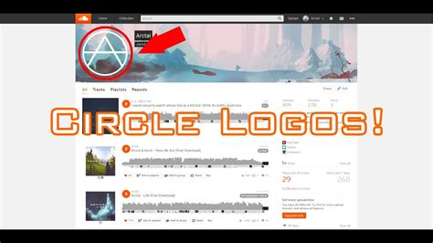 How To Make You Soundcloud Profile And Banner Perfectly Fit Updated Circle Logos Psd Youtube Soundcloud Banner Template