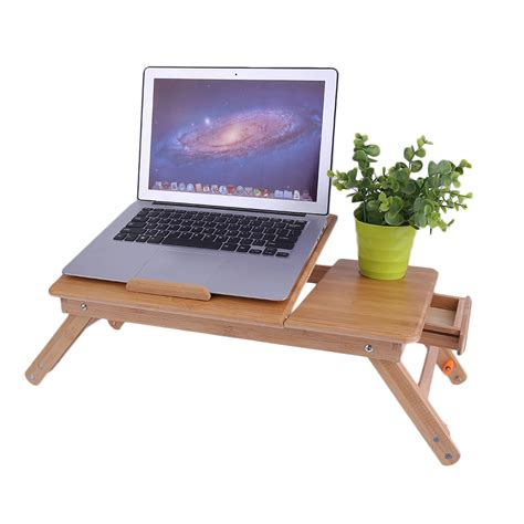 laptop bed desk portable adjustable 15 quot large laptop desk bed tray table