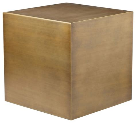 cube accent table cube side table modern side tables and end tables by