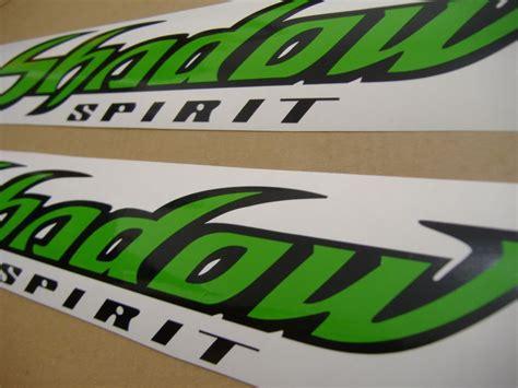 Honda Tank Sticker by Honda Shadow Spirit Tank Decals Set In Lime Green Black