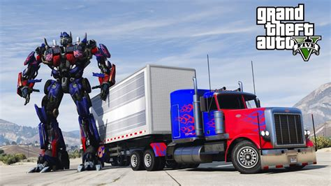 mod gta 5 transformers gta 5 transformers mod i crashed into optimus prime