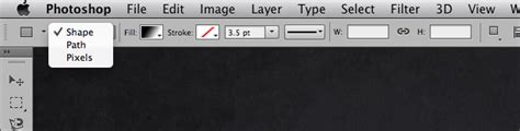 where is the shapes layer option in photoshop cs6 graphic design where is the shapes layer option in photoshop cs6