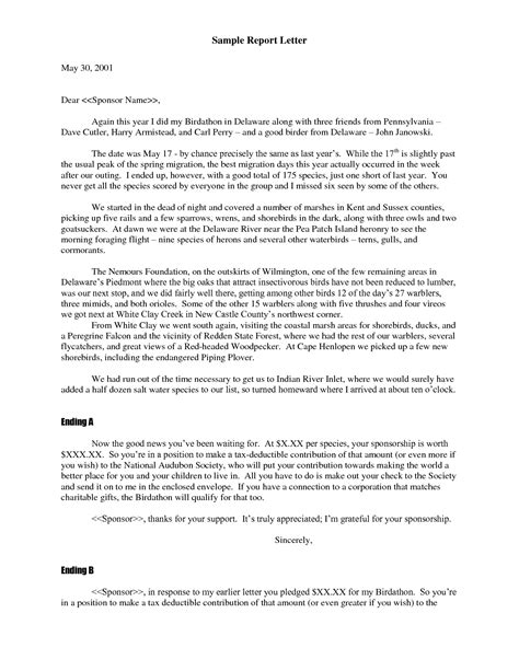 business report cover letter formal business report