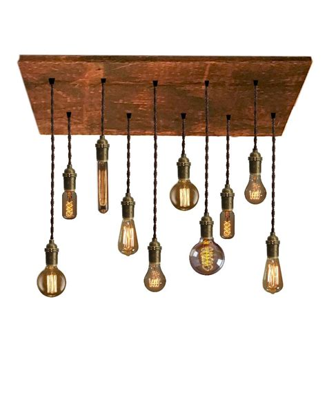 Reclaimed Pendant Lighting 10 Pendant Reclaimed Wood Chandelier Rustic By Hangoutlighting