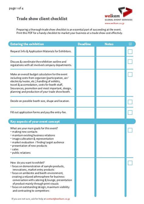 trade show checklist and marketing tips jyler checkliste salon exemple 2