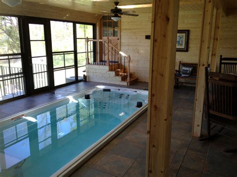 17 endless pool 174 swim spa rustic hot tub and pool